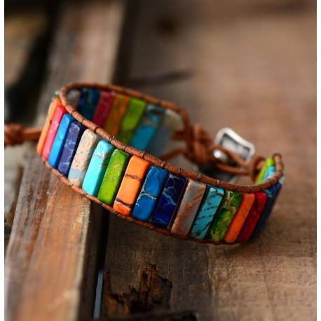 Handwoven Jasper Reiki Chakra Bracelet