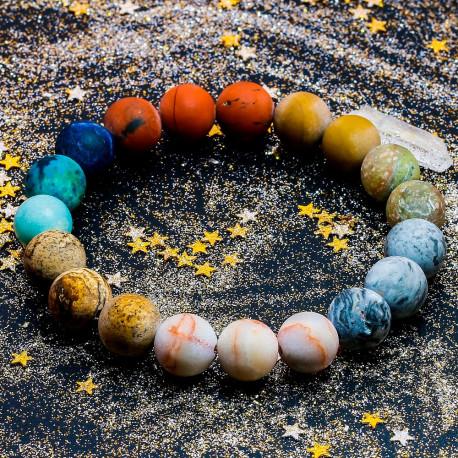 Natural Stone Bead Universe Bracelet