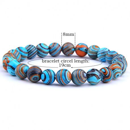 Natural Stone Malachite Chakra Prayer Bracelet