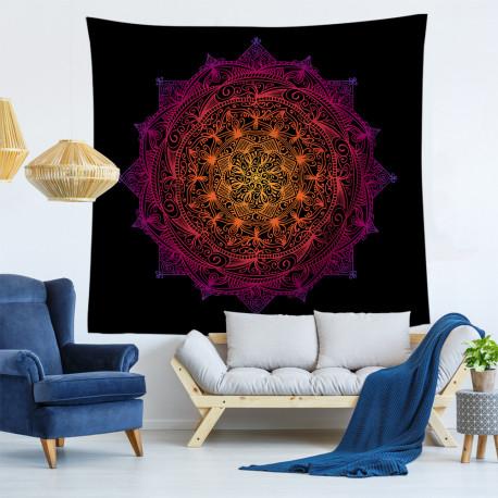 Black Lotus Mandala Tapestry