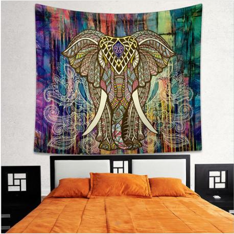 Royal Elephant Mandala Tapestry