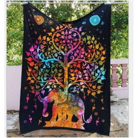 Chakra Elephant Mandala Tapestry