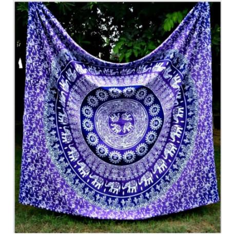 Purple Universe Mandala Tapestry
