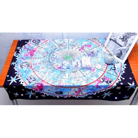 Zodiac Tarot Card Reading Divination Tablecloth