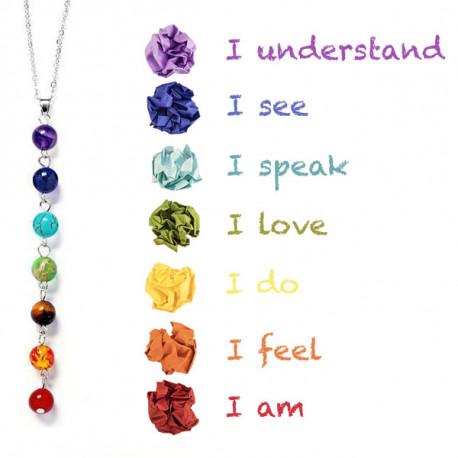 7 Chakra Reiki Stone Necklace