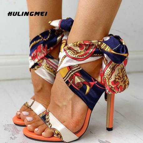Sandalias Mujer F20151 (Designer Strap Heel Sandals)