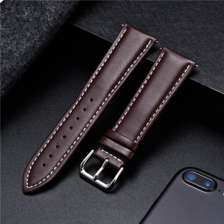 Genuine Soft Leather Watchband 18mm 20mm 22mm 24mm