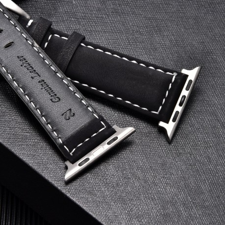 Crazy Horse Leather Watch Strap for apple watch 5/4/3/2/1