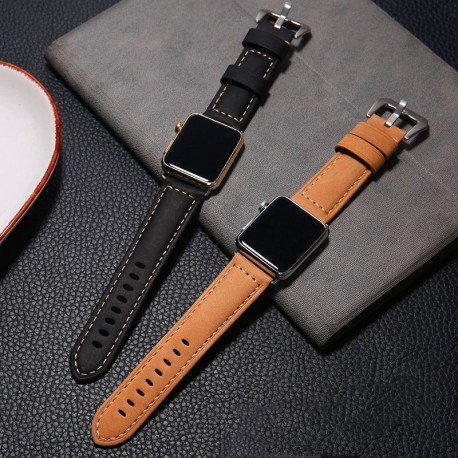 Genuine Leather strap For Apple Watch Band 44mm/40mm