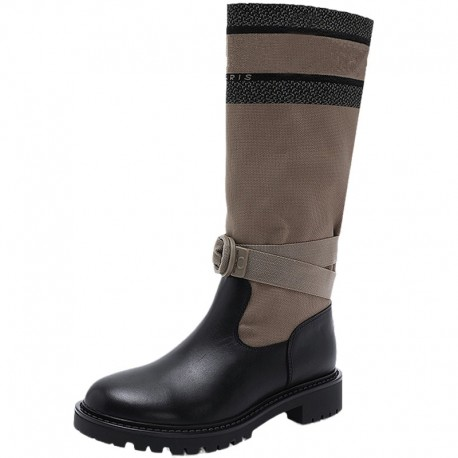 LUX PARIS BOOT F20350 ( Leather luxury Boot)