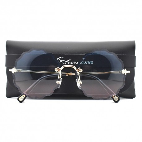 ROSIE F20521 ( 2021 Luxury Round Sunglasses )