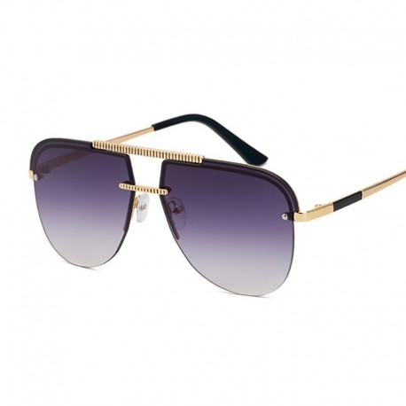 MEN'S RETRO Collection F20512 ( New Luxury  Rimless Sunglasses )