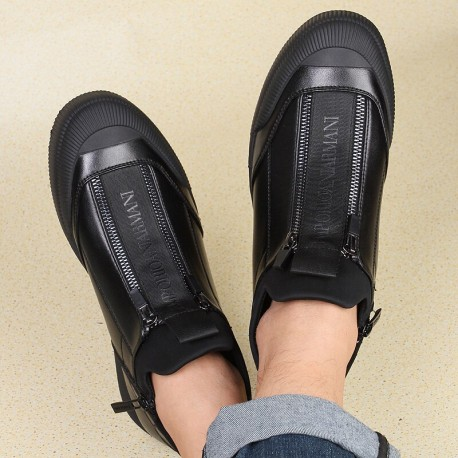 EMPORIO LEATHER F20408 ( Luxury Winter Sneaker Collection )