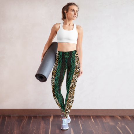 *CUSTOM* Teal Jaguar Yoga Gym Leggings