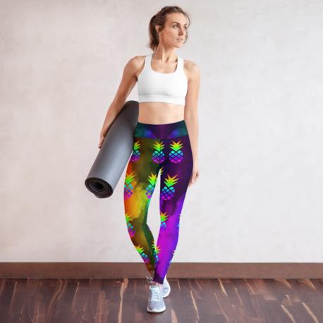 *CUSTOM*  Custom Rainbow Pineapple Yoga Leggings