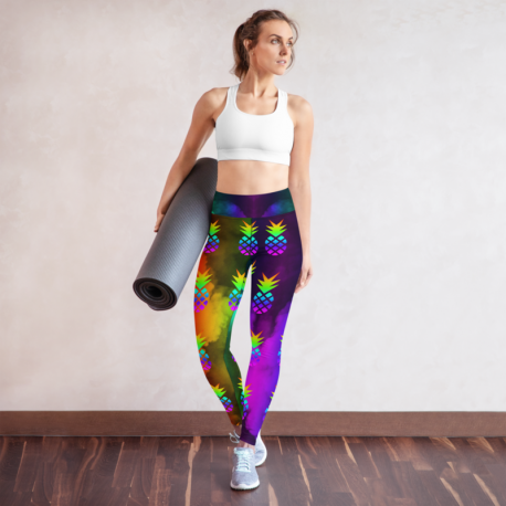 *CUSTOM*  Custom Rainbow Pineapple Yoga Leggings