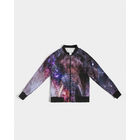 *CUSTOM* Galaxy Elephant Bomber Jacket