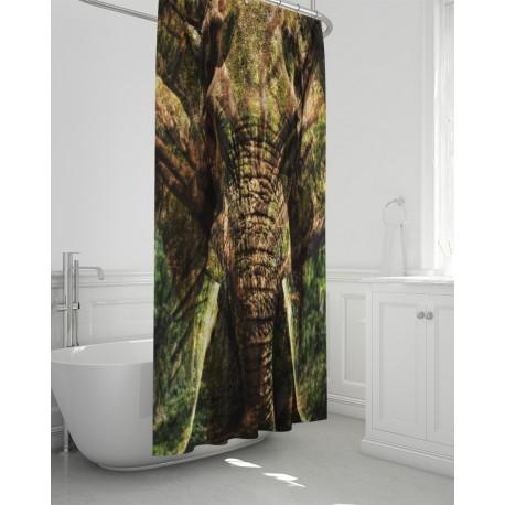 *CUSTOM* Tree of Life Elephant Bathroom Curtain