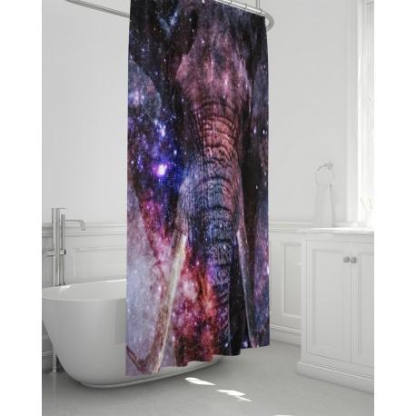 *CUSTOM* Galaxy Elephant Bathroom Curtain