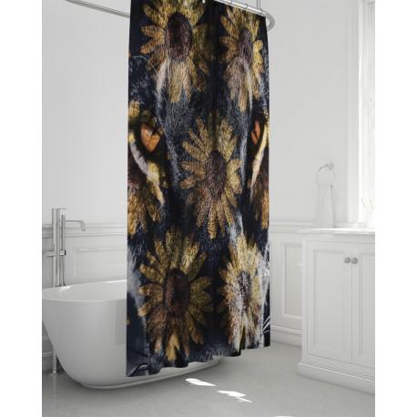 *CUSTOM* First Cat Sunflower Bathroom Curtain