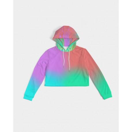 *CUSTOM* Neon Nights Cropped Hoodie