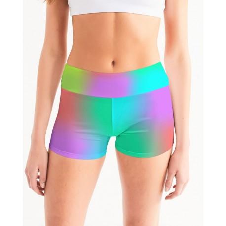 *CUSTOM* Neon Nights Yoga Shorts