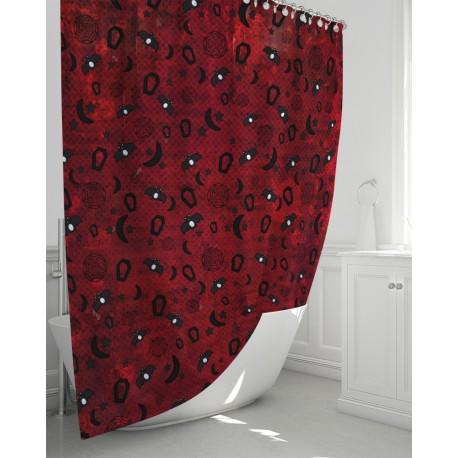 *CUSTOM* Blood Moon Rising Bathroom Curtain