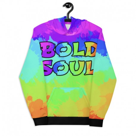 *CUSTOM* Painted Bold Rainbow Hoodie (Ultra Soft Fleece Inside)