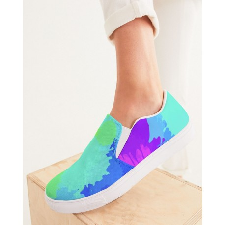 *CUSTOM*  Painted Bold Rainbow Women's Boat Shoes