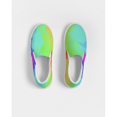 *CUSTOM*  Painted Bold Rainbow Men's Boat Shoes
