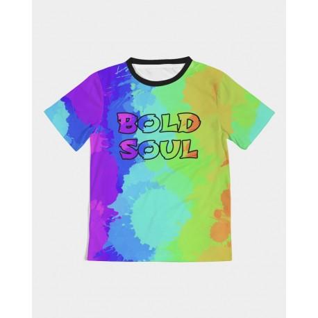 *CUSTOM* Painted Bold Rainbow Kids Top