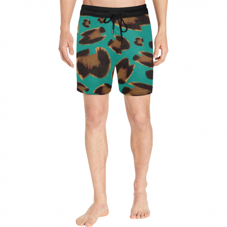 *CUSTOM* Men's Limited Jaguar Mid-Thigh Swim Trunks