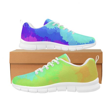 *CUSTOM* Women's Limited Painted Rainbow Breathable Running Shoes