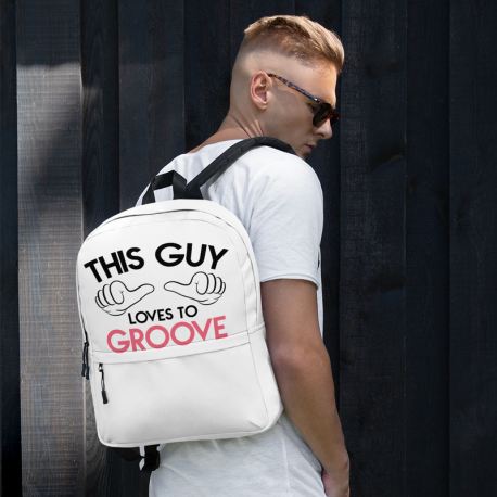 This guy loves to Groove Backpack