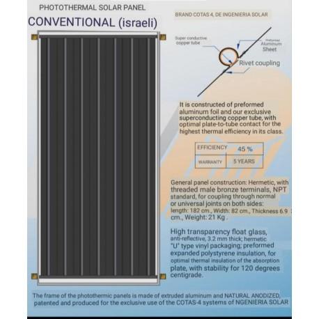 CONVENTIONAL BLACK STEEL TANK AND ISRAELI TYPE PANELS