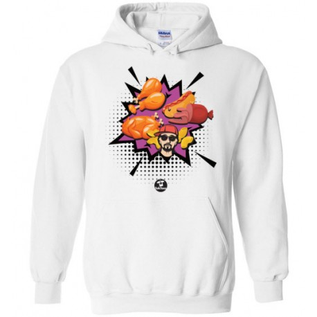 Chicken Wing Chicken Wing Comic Style TokTees - Gildan Heavy Blend Hoodie