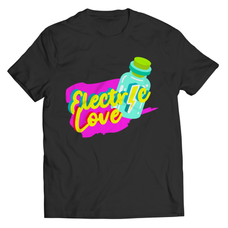 Electric Love TikTok Unisex Tee from TokTees