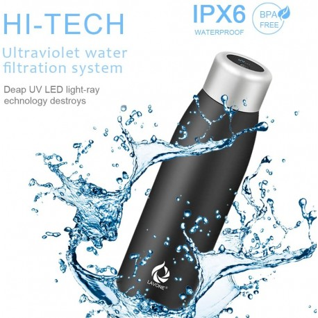 UV Self-Cleaning and Water-Purifying Bottle