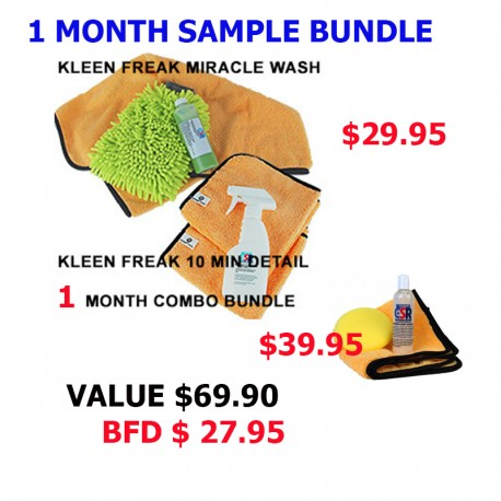 Kleen Freak 1 Month Sample Bundle w/Sealant