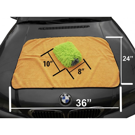 Monster Microfiber Car Wash Drying Towel / Chenille Wash Mitt