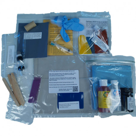Custom Touch Up Paint Kit components