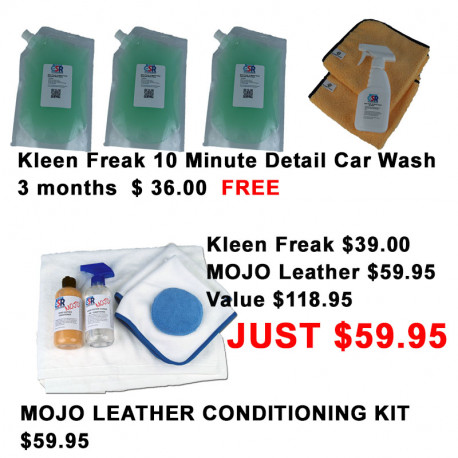 FREE Kleen Freak 3 month plus MOJO Leather Conditioning  Kit