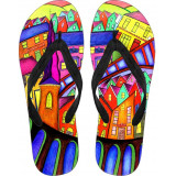 Welsh Village Flip Flops