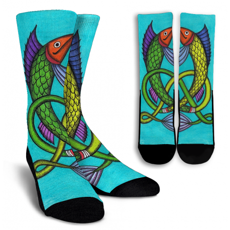 Welsh Fish Crew Socks