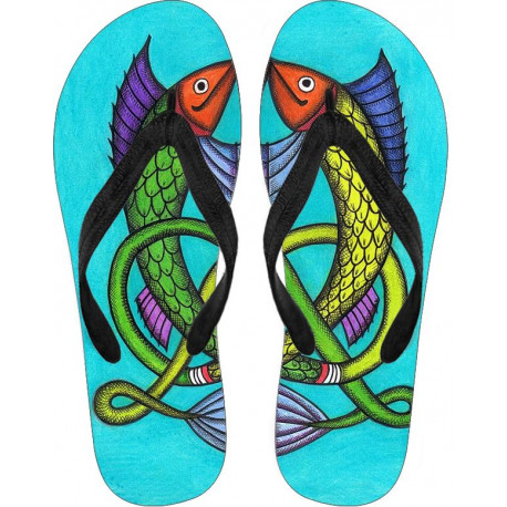 Welsh Fish Flip Flops