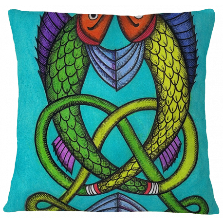 Welsh Fish Cushion Cover