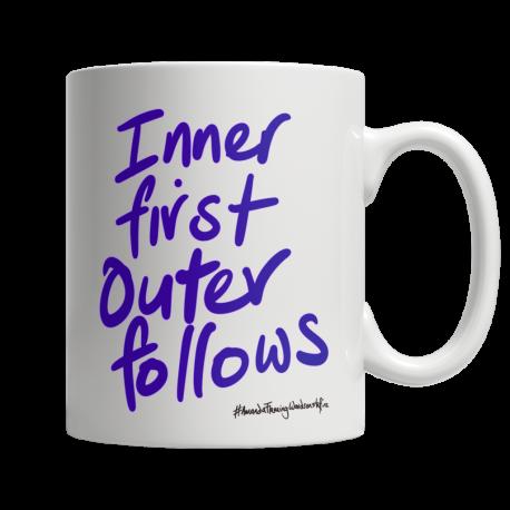 Inner first outer follows white 11oz ceramic mug (both sides print)