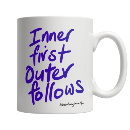 Inner first outer follows. White 11oz ceramic mug (one side print)