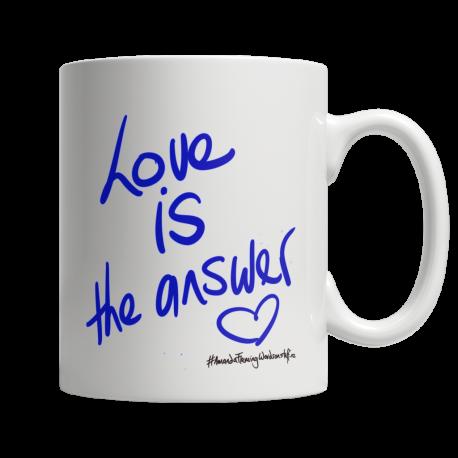 Love is the answer 11oz ceramic mug (one side print)
