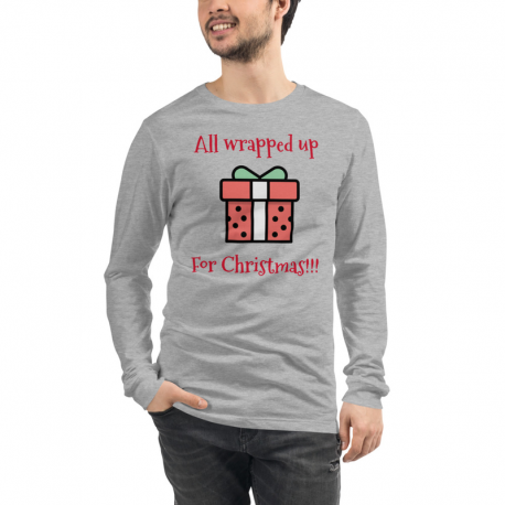 All wrapped up for Christmas present Long Sleeve Tee